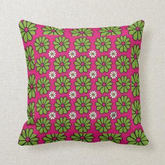 緑およびピンクのアメリカ人のMoJoの枕 クッション