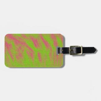 緑およびピンクの抽象芸術のラベル ラゲッジタグ