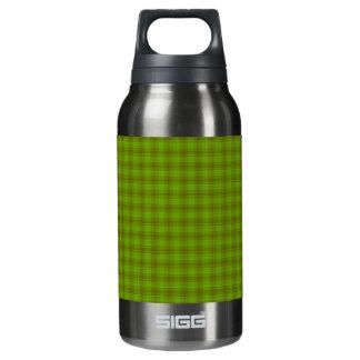 緑およびブラウンのギンガム 断熱ウォーターボトル