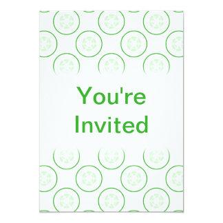 緑および白いきゅうりパターン カード