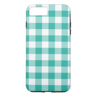 緑および白いギンガムの点検パターン iPhone 8 PLUS/7 PLUSケース