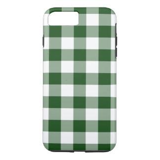 緑および白いギンガムパターンiPhone 7のプラスの場合 iPhone 8 Plus/7 Plusケース