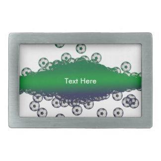 緑および白いサッカーのベルトの留め金 長方形ベルトバックル