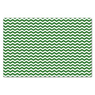 緑および白いシェブロンパターンチィッシュペーパー 薄葉紙