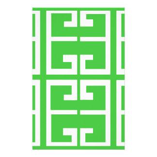 緑および白いタイル 便箋