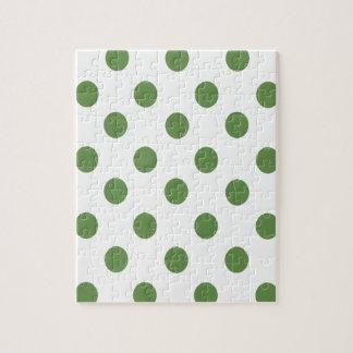 緑および白い水玉模様 ジグソーパズル