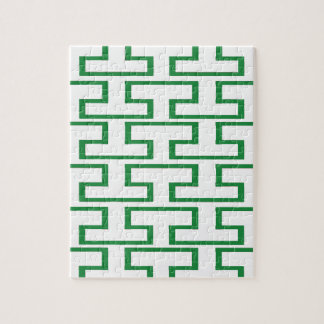 緑および白い煉瓦 ジグソーパズル