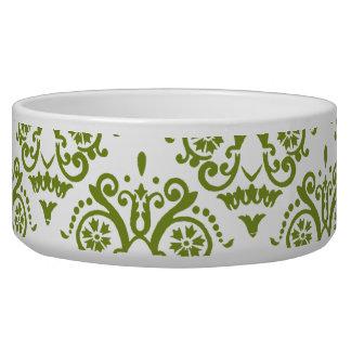 緑および白くエレガントなダマスク織