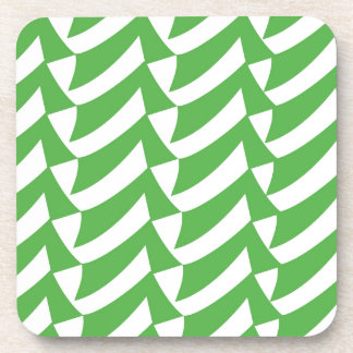 緑および白の点検 コースター
