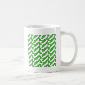 緑および白の点検 コーヒーマグカップ
