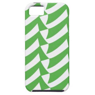 緑および白の点検 iPhone SE/5/5s ケース