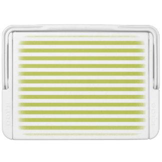 緑および白ストライプなパターン IGLOOクーラーボックス