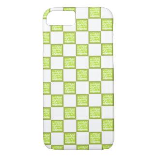 緑および白iPhoneの包装か皮を点検しました iPhone 8/7ケース