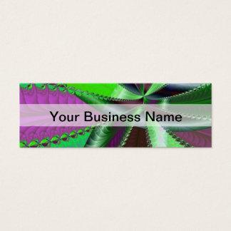 緑および紫色のフラクタルパターン スキニー名刺