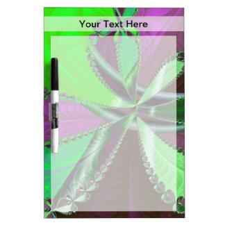 緑および紫色のフラクタルパターン ホワイトボード