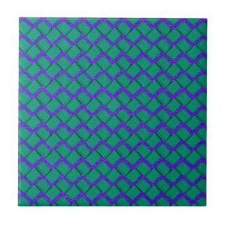 緑および紫色のペーパージグザグ形 タイル
