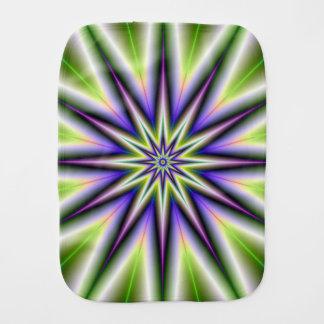 緑および紫色の時間の星 バープクロス