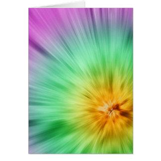 緑および紫色の絞り染め カード