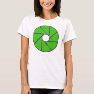 緑および紫色の開きの刃 Tシャツ