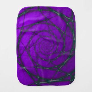 緑および紫色ワイヤー螺線形 バープクロス