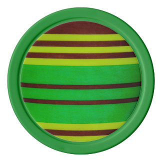 緑および茶色のストライブ柄 ポーカーチップ