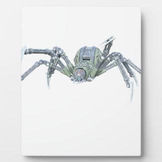 緑および銀のロボットくも フォトプラーク