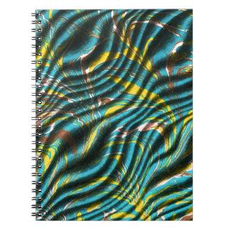 緑および青のさざ波 ノートブック