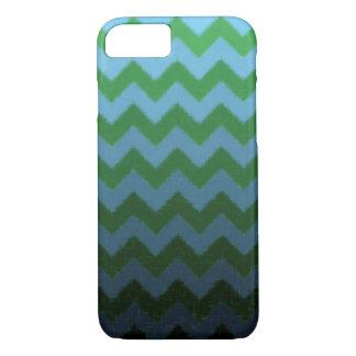 緑および青のシェブロンのiPhone 7の箱 iPhone 8/7ケース