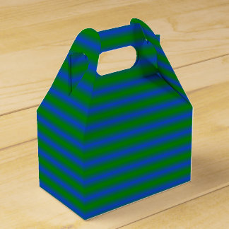 緑および青のストライプのな好意箱