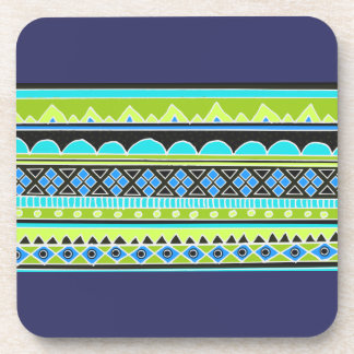 緑および青の種族パターン コースター