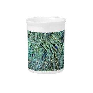 緑および青の穀物の孔雀の目 ピッチャー