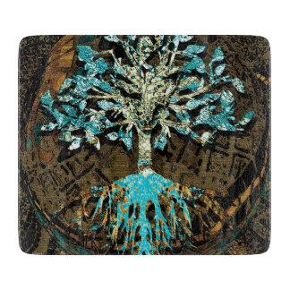 緑および青色の生命の樹 カッティングボード