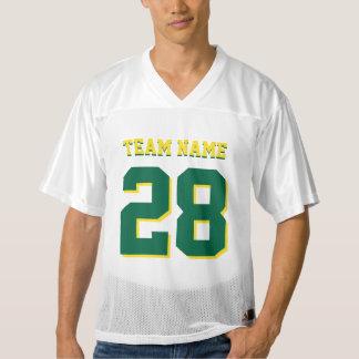緑および黄色のフットボールのスポーツのチームジャージー メンズフットボールジャージー