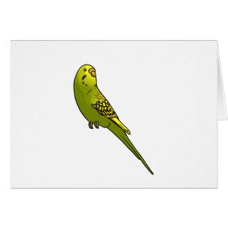 緑および黄色のbudgie カード