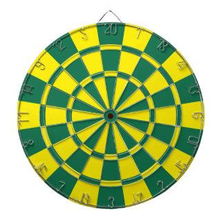緑および黄色 ダーツボード