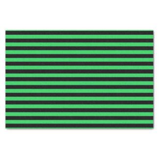 緑および黒いストライプのチィッシュペーパー 薄葉紙