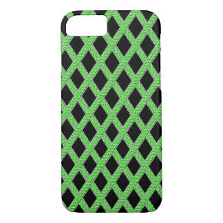 緑および黒い十字形の携帯電話の箱 iPhone 8/7ケース