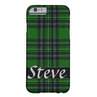 緑および黒い格子縞 BARELY THERE iPhone 6 ケース