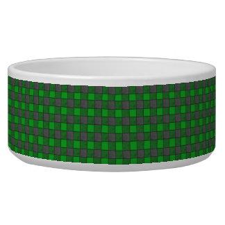 緑および黒い点検のペットボウル