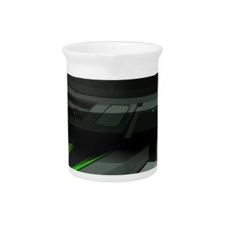 緑および黒い色の宇宙船 ピッチャー