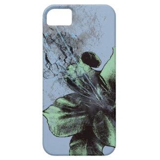 緑か青ユリ iPhone SE/5/5s ケース