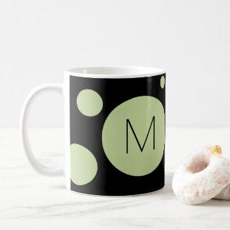 緑か黒い点のカスタムのマグ コーヒーマグカップ