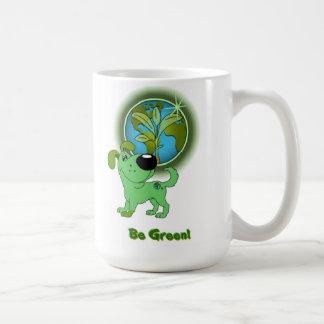 緑があって下さい! -葉 コーヒーマグカップ