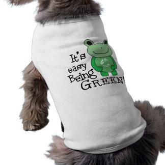 緑がある簡単 ペット服