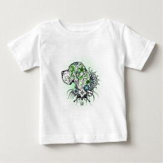 緑がかったグレートデーン ベビーTシャツ