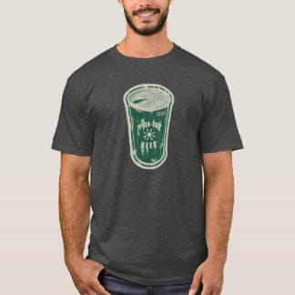 緑がかったタブの缶ビールを引っ張って下さいか。 動揺してなロゴ Tシャツ