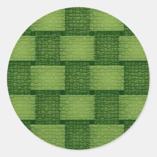 緑がかった壁- ラウンドシール