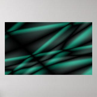 緑がかった波 ポスター