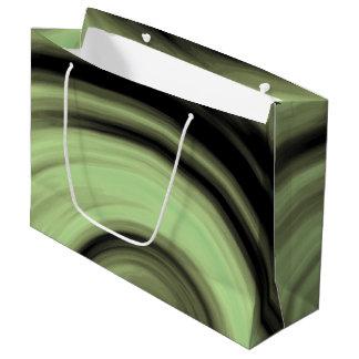 緑がかった渦巻 ラージペーパーバッグ