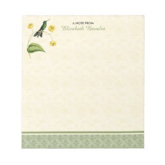 緑によって戴冠させる華麗なハチドリ ノートパッド